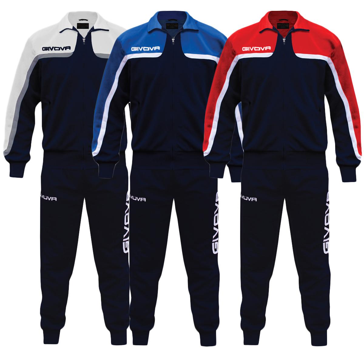 Originale Completo Tuta Sportiva Givova Allenamento Uomo Unisex Donna Africa Vari Color...
