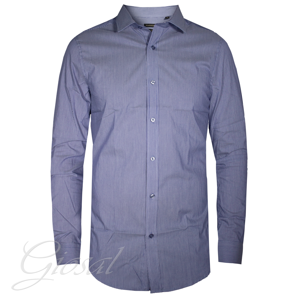 camisa botón Azul filas GIOSAL C1172A Casual manga hombre cuello larga  cFq6rISUq d2145f5157d37