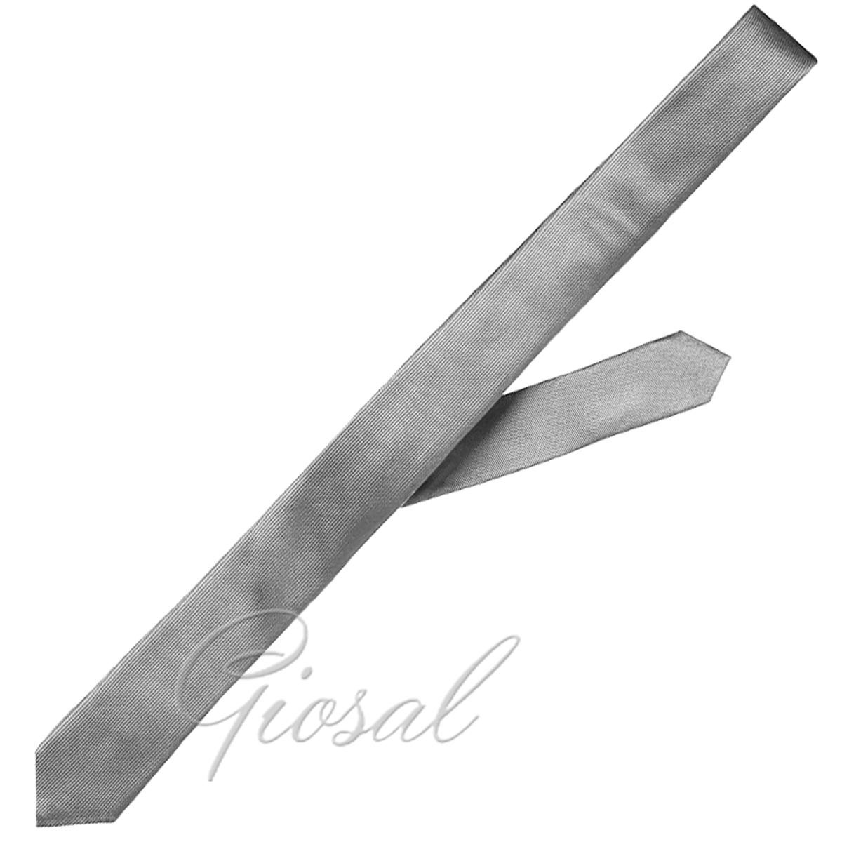 Cravattino-Uomo-Semplice-Sottile-Casual-Tinta-Unita-Vari-Colori-GIOSAL miniatura 18