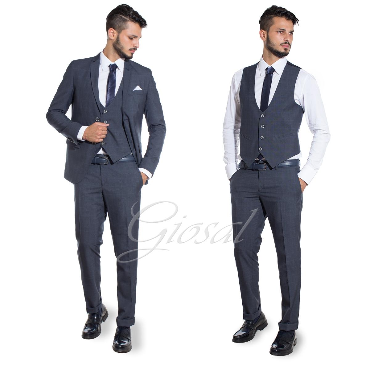 Vestiti Eleganti Uomo Grigio.Abito Elegante Uomo Completo Pantaloni Giacca Gilet Panciotto