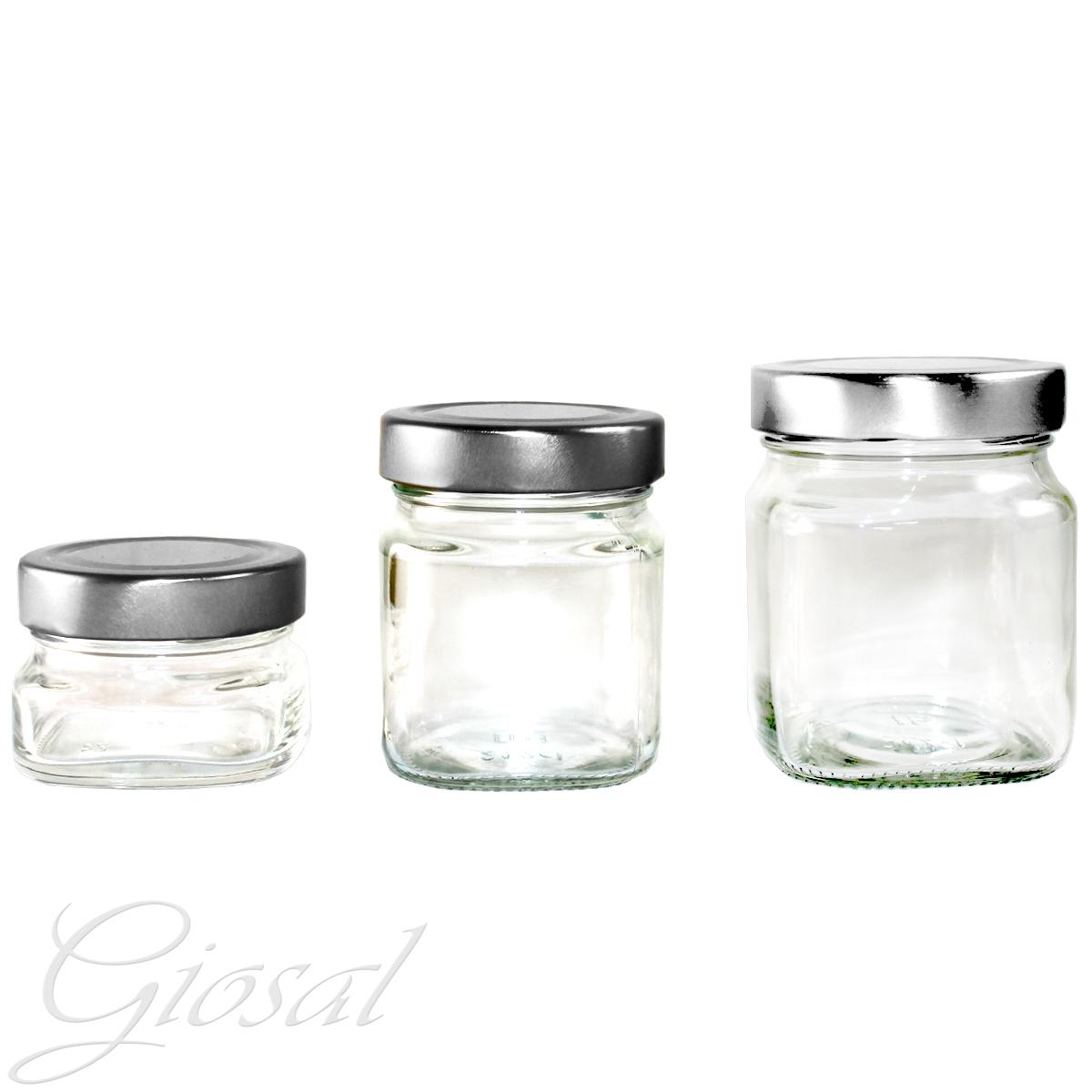 Contenitori Vetro Per Conserve vaso barattolo conserve sottovuoto salse confetture vetro trasparente varie  dimensioni giosal