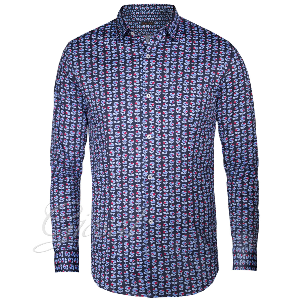 Uomo Taglia M//L//XL//XXL//3XL Gladiolus Casual Camicia Slim Fit Colletto Button-Down//Camicia Classiche