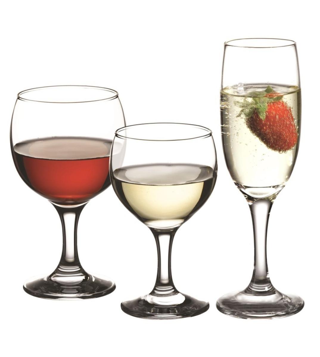 Calici Vino E Acqua set bicchieri 18 pezzi calici paris acqua vino flute vetro trasparente  pasabahce giosal
