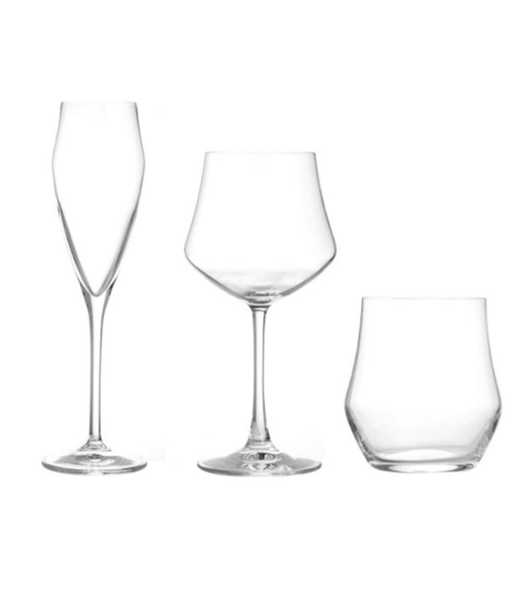 Calici Vino E Acqua set 18 bicchieri calici flute ego acqua vino 18cl 43cl 39cl vetro cristallo  rcr giosal