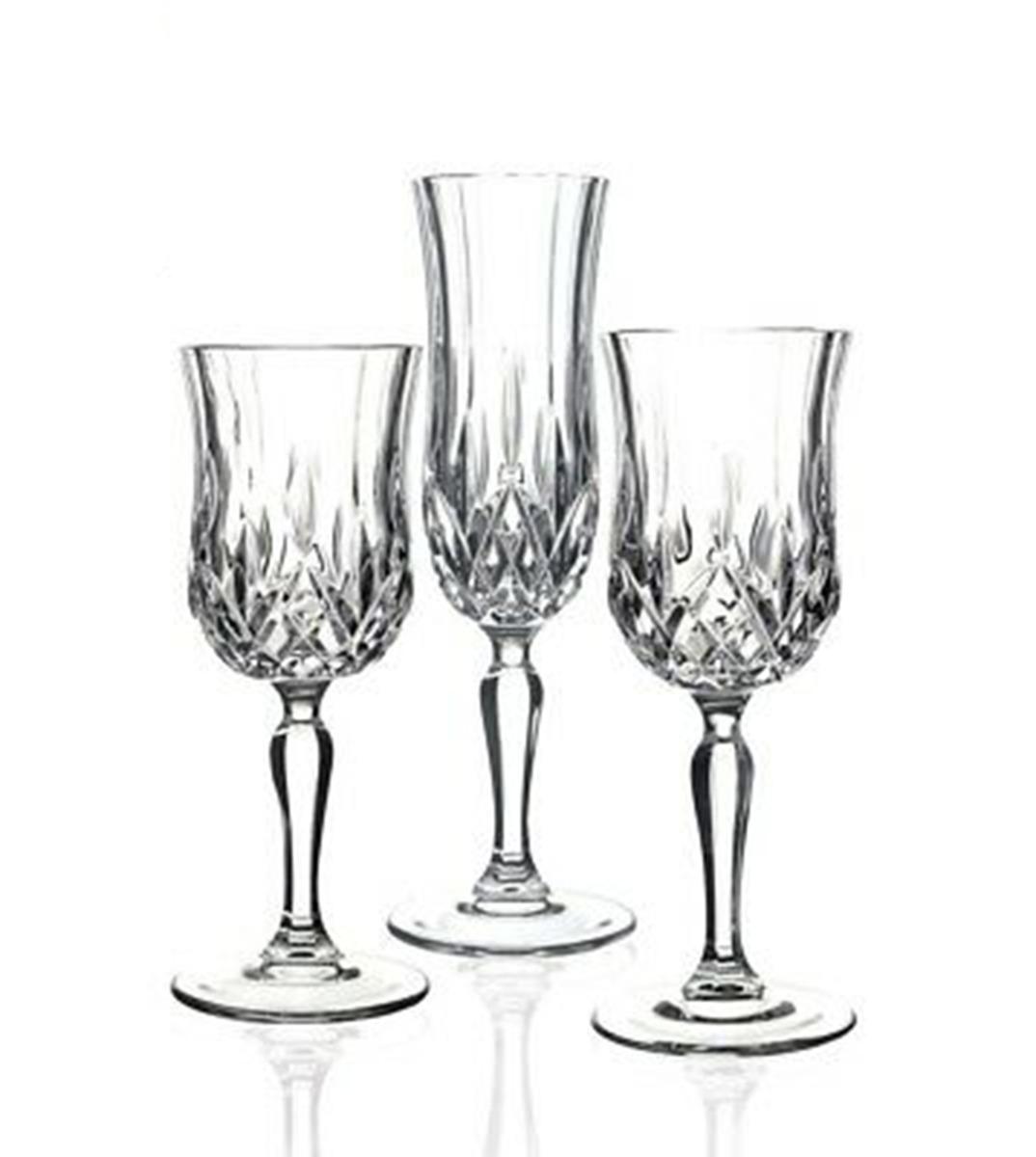 Calici Vino E Acqua set bicchieri calici opera 18 pezzi acqua vino flute vetro cristalleria  italiana rcr giosal