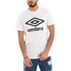 T-Shirt Uomo Maglia Umbro Stampa Girocollo Bianca RAP00039B GIOSAL