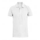 Polo Uomo Maglia Maniche Corte Bianca Tinta UnitaT-Shirt Mezza Manica Colletto GIOSAL
