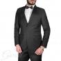 Abito Elegante Uomo Smoking Vestito Giacca Pantalone Tinta Unita Bottoni Nero Classico GIOSAL