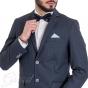 Abito Elegante Completo Blu Scuro Pois Pochette Slim Taschino Giacca Pantaloni GIOSAL