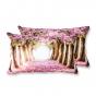 Coppia Federe Per Guanciale Romantic Floreale Primavera I Love Sleeping Stampa Digitale 3D Cotone GIOSAL