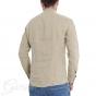 Outfit Uomo Completo Lino Tinta Unita Camicia Beige Bermuda Rigato GIOSAL