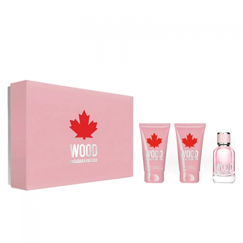 Coffret Donna Dsquared DSQ Wood Profumo EDT 50ML + B/L 50ML + S/G 50ML GIOSAL