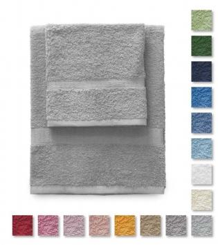 Set Asciugamano Gabel Rio Spugna 1+1 Tinta Unita Vari Colori  420 gr/mq Cotoe Viso Ospite GABEL