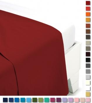 Lenzuolo Sopra Tinta Unita Botticelli Home Vari Colori Matrimoniale Maxi Cotone GIOSAL
