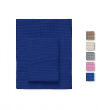 Set Asciugamani 1+1 Nido D'ape Botticelli Home Tinta Unita Vari Colori Viso Ospite GIOSAL