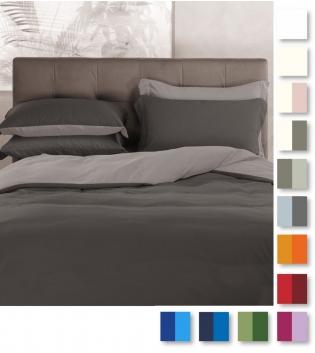 Parure Copripiumino Bicolore Botticelli Home Vari Colori 1,5 + Federa GIOSAL