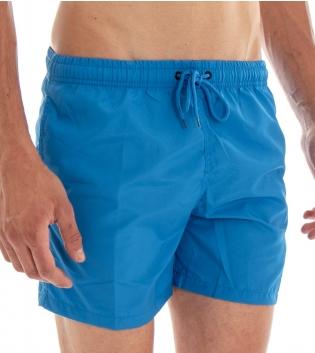 Costume Da Bagno Summer Pantaloncino Boxer Elastico Tinta Unita Azzurro GIOSAL