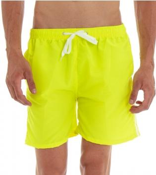 Costume Da Bagno Summer Pantaloncino Boxer Elastico Tinta Unita Righe Giallo GIOSAL