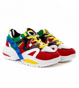 Scarpe Uomo Sportive Sneakers Multicolore Shoes Da Ginnastica Lacci Casual GIOSAL