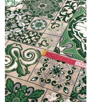 Tessuto Arredo Casa Cotone Fantasia Floreale Verde Vari Colori Tovaglia Scampolo Al Metro GIOSAL