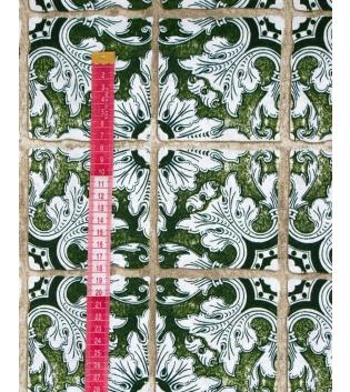 Tessuto Arredo Casa Cotone Fantasia Floreale Quadri Verde Vari Colori Scampolo Al Metro Tovaglia GIOSAL