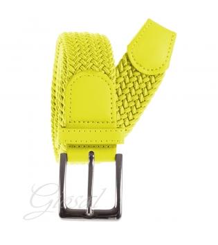 Cintura Uomo Elastica Regolabile Fibbia In Metallo Tinta Unita Giallo GIOSAL