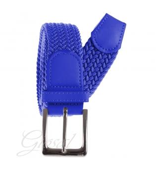 Cintura Uomo Elastica Regolabile Fibbia In Metallo Tinta Unita Blu Royal GIOSAL