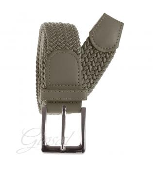 Cintura Uomo Elastica Regolabile Fibbia In Metallo Tinta Unita Fango GIOSAL