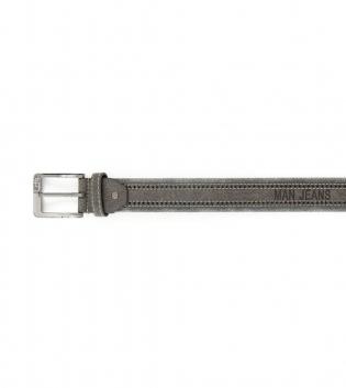 Cintura Uomo Tessuto Ecopelle Grigio con Fibbia in Metallo Cinta Regolabile GIOSAL