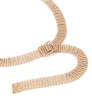 Cintura Donna Strass Cinta Color Oro Accessori Regolabile GIOSAL