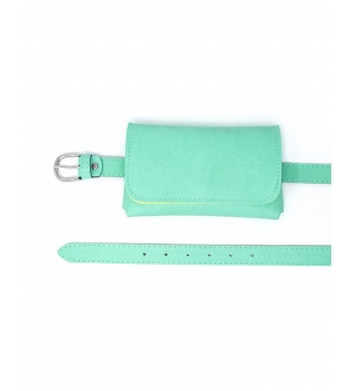 Cintura Donna Marsupio Removibile Tinta Unita Verde Pastello Accessori GIOSAL