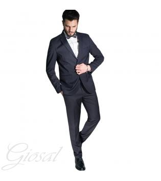 Abito Elegante Uomo Vestito Smoking Papillon Tinta Unita Blu Bottoni Tasche Casual GIOSAL