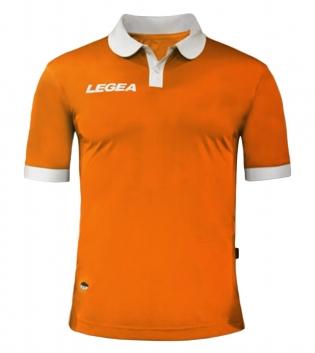 Maglia Uomo LEGEA Calcio Abbigliamento Sportivo Vintage Gold Uomo Bambino GIOSAL-Arancio-Bianco-S