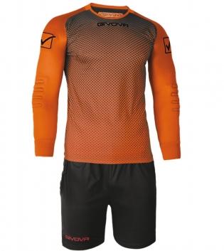 Kit Calcio Sport Manchester Portiere GIVOVA Sportivo Uomo Maniche Lunghe GIOSAL-Arancio/Nero-3XS