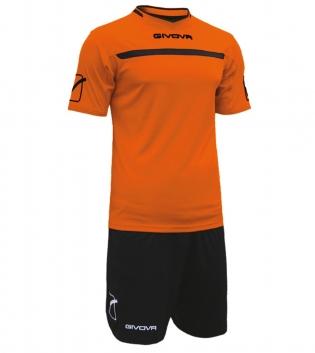 Kit One Calcio GIVOVA Uomo Sport Uomo Bambino Abbigliamento Sportivo Calcistico GIOSAL-Arancio/Nero-2XS