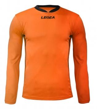 Maglia Uomo Calcio Sport LEGEA Dusseldorf Manica Lunga BOX 10 PEZZI Uomo Bambino GIOSAL-Arancio-Nero-S