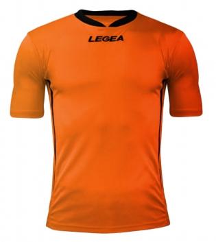 Maglia Uomo Calcio LEGEA Dusseldorf Manica Corta BOX 10 PEZZI Uomo Bambino GIOSAL-Arancio-Nero-3XS