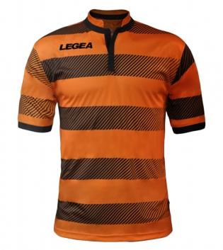 Maglia Uomo Sport LEGEA Calcio Edimburgo Abbigliamento Sportivo Uomo Bambino GIOSAL-Arancio-Nero-S