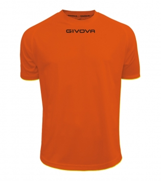Maglia Calcio Sport GIVOVA One T-Shirt Uomo Donna Bambino Maglietta Abbigliamento Sportivo GIOSAL-Arancio-2XS
