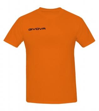 New T-Shirt Fresh GIVOVA Uomo Donna Unisex Free Time Relax Sport GIOSAL-Arancio Fluo-2XS