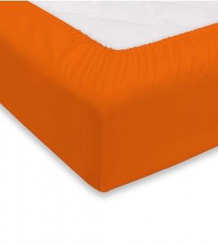 Lenzuolo Sotto Maestri Cotonieri Con Angoli Cotone Matrimoniale Maxi 180x220cm Vari Colori GIOSAL-Arancione