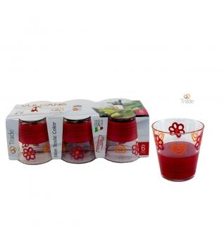 Set Di Bicchieri Vulcano 6 pz Decoro Farmhouse Vari Colori GIOSAL