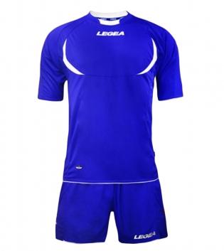 Kit LEGEA Calcio Stoccolma Completo Sportivo Sport Abbigliamento GIOSAL-Azzurro-Bianco-XS