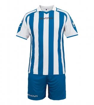 Kit Supporter Calcio Sport GIVOVA Abbigliamento Sportivo Uomo Calcistico GIOSAL-Azzurro-Bianco-M