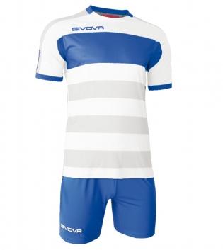 Kit Derby Calcio Sport GIVOVA Abbigliamento Sportivo Calcistico GIOSAL-Azzurro-Bianco-M