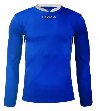 Maglia Uomo Calcio Sport LEGEA Dusseldorf Manica Lunga BOX 10 PEZZI Uomo Bambino GIOSAL-Azzurro-Bianco-3XS