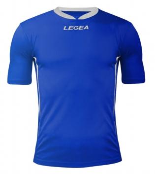 Maglia Uomo Calcio LEGEA Dusseldorf Manica Corta BOX 10 PEZZI Uomo Bambino GIOSAL-Azzurro-Bianco-M