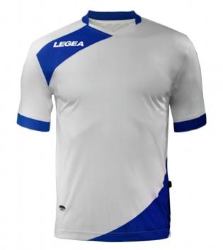 Maglia Uomo Calcio Sport LEGEA Abbigliamento Sportivo Calcistico Uomo Bambino GIOSAL-Bianco-Azzurro-XS