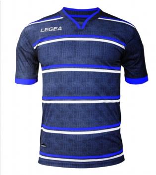 Maglia Calcio Sport LEGEA Beige Jeans Uomo Bambino Abbigliamento Sportivo GIOSAL-Azzurro-Bianco-M