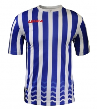 Maglia Uomo Calcio Sport LEGEA Salonicco GOLD Uomo Bambino Sportivo GIOSAL-Azzurro-Bianco-M